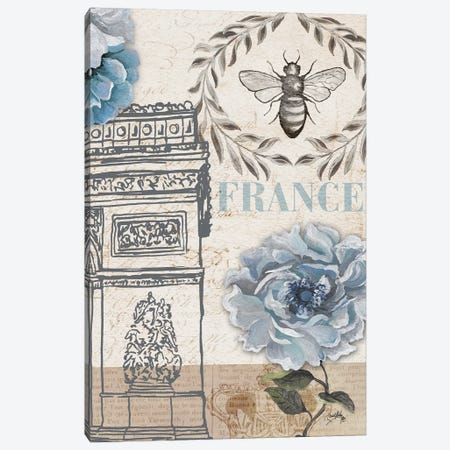 Paris Bee II Canvas Print #EME219} by Elizabeth Medley Canvas Art