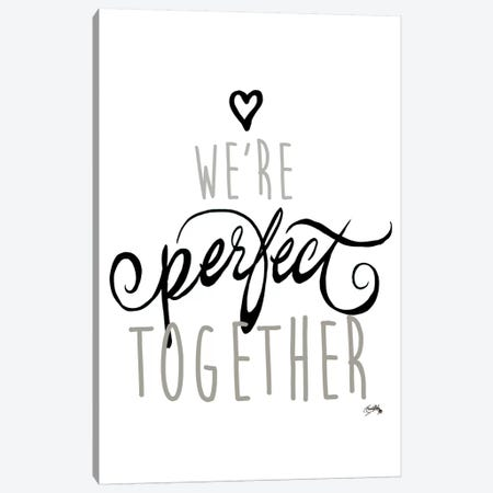 We'Re Perfect Together Canvas Print #EME227} by Elizabeth Medley Canvas Art
