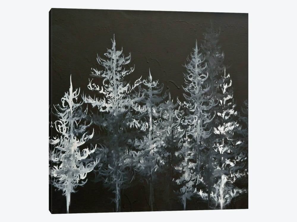 Black Trees by Emily Magone 1-piece Canvas Print