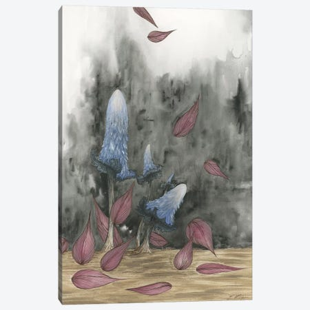 Blue Mushrooms Two Canvas Print #EME29} by Emily Magone Art Print
