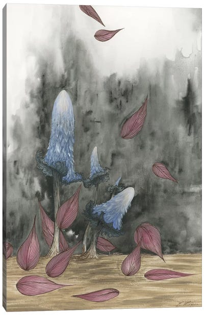Blue Mushrooms Two Canvas Print #EME29