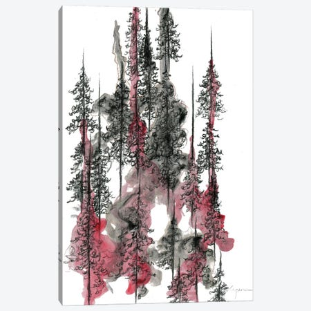 Charcoal Trees One Canvas Print #EME33} by Emily Magone Canvas Wall Art