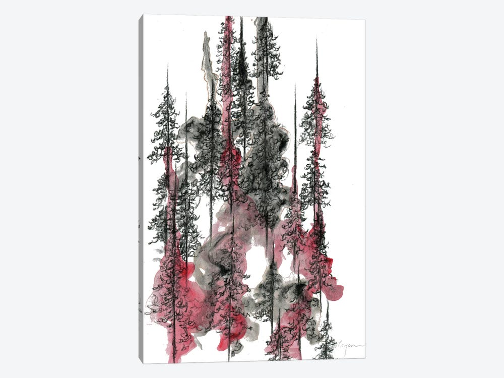 Charcoal Trees One by Emily Magone 1-piece Art Print