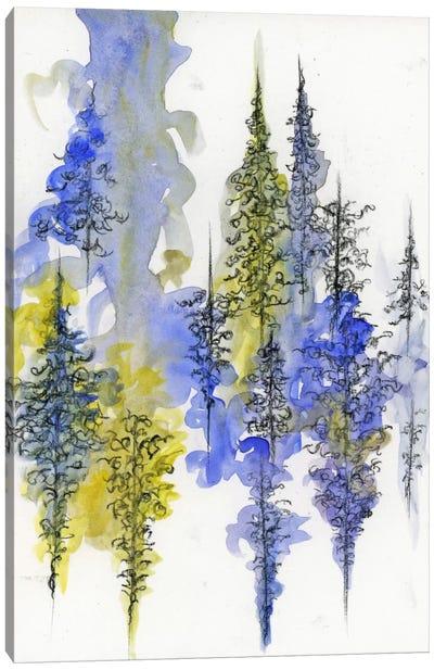 Charcoal Trees Three Canvas Art Print