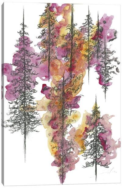 Charcoal Trees Two Canvas Print #EME35