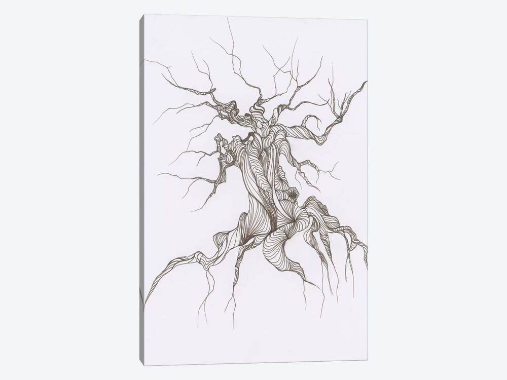 Gnarly Tree by Emily Magone 1-piece Canvas Print