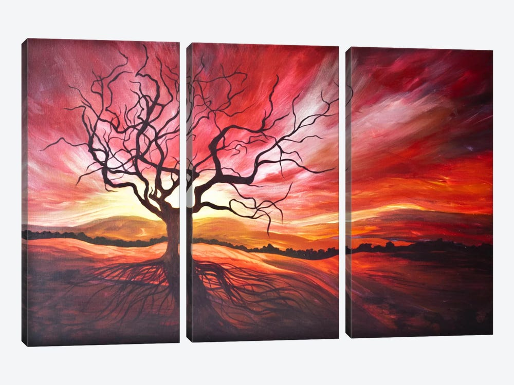 Sunrise by Emily Magone 3-piece Canvas Art