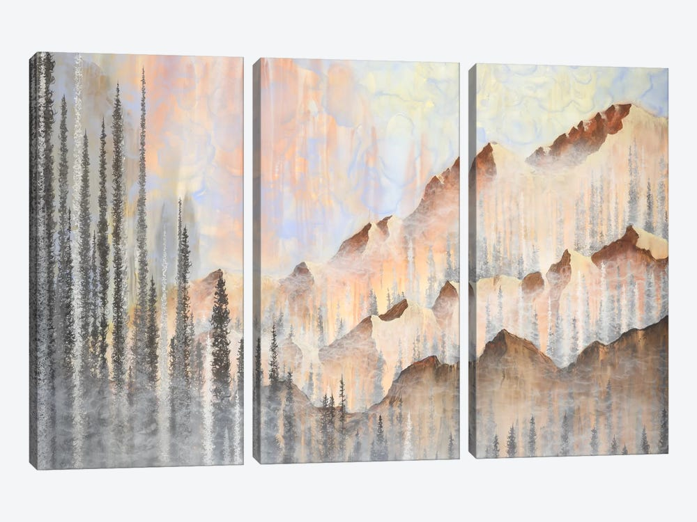 Afterburn by Emily Magone 3-piece Canvas Art Print