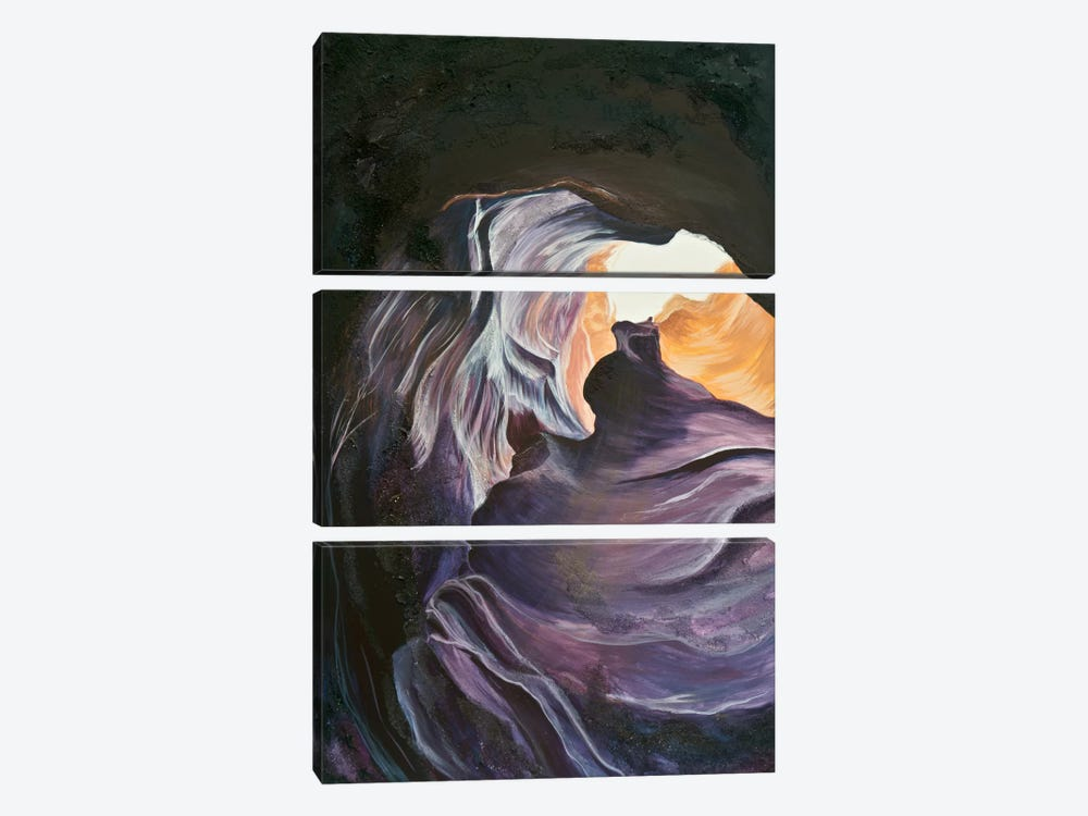 Antelope Canyon II by Emily Magone 3-piece Canvas Wall Art