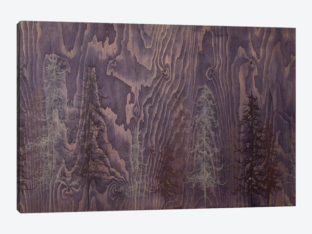 Purple Trees by Emily Magone 1-piece Canvas Wall Art