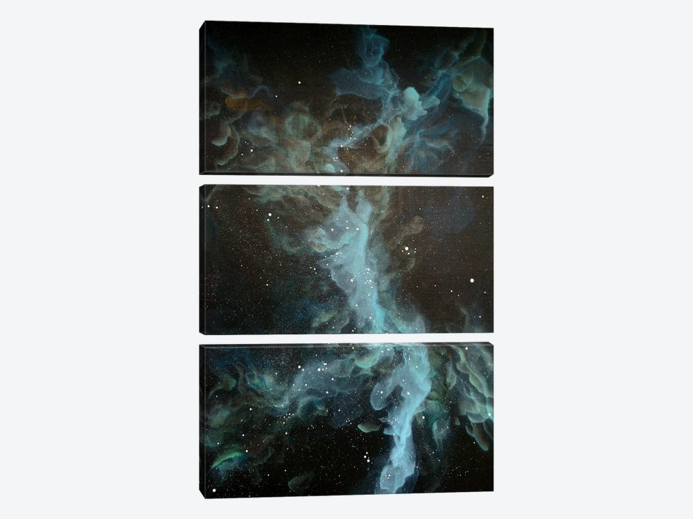 Nebula Seven by Emily Magone 3-piece Canvas Print