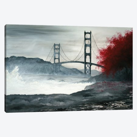 Golden Gate Bridge Canvas Print #EME96} by Emily Magone Art Print