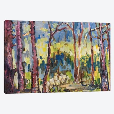 Brushy Treeline I 3-Piece Canvas #EMF17} by Erin McGee Ferrell Canvas Art