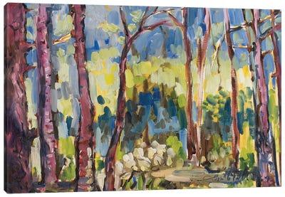 Brushy Treeline I Canvas Art Print