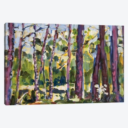 Brushy Treeline II 3-Piece Canvas #EMF18} by Erin McGee Ferrell Canvas Print
