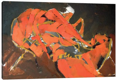 Abstract Lobster I Canvas Art Print