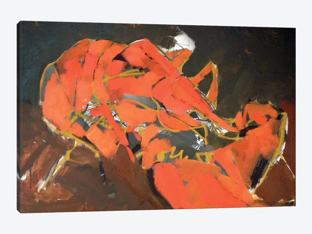 Abstract Lobster I by Erin McGee Ferrell 1-piece Canvas Art Print