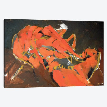 Abstract Lobster I 3-Piece Canvas #EMF1} by Erin McGee Ferrell Canvas Wall Art