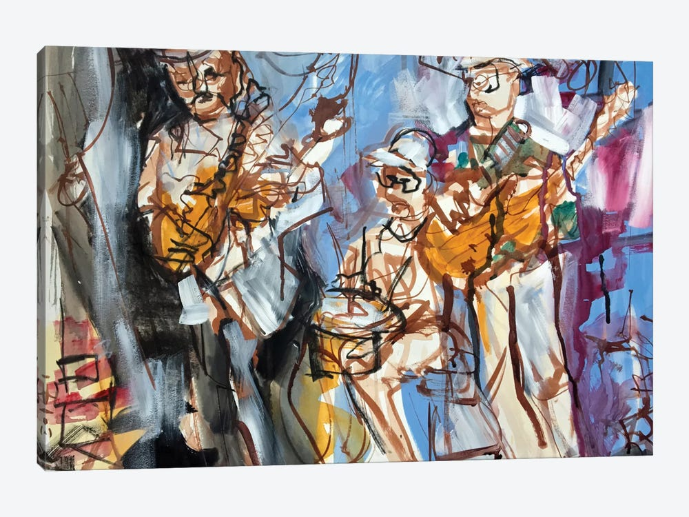 New Orleans Musicians I by Erin McGee Ferrell 1-piece Canvas Print