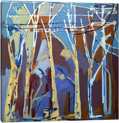 Trees & Wires II Canvas Art Print