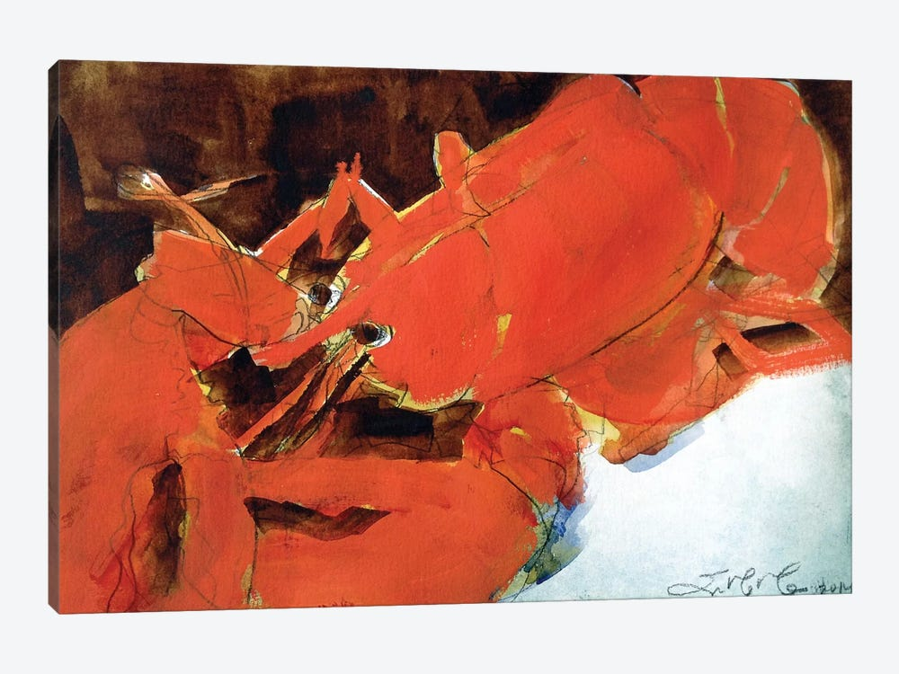 Abstract Lobster II by Erin McGee Ferrell 1-piece Canvas Artwork