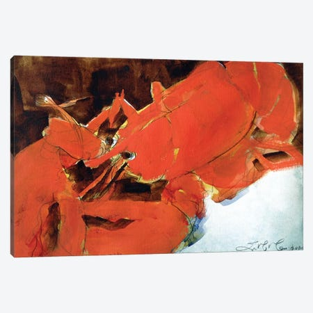 Abstract Lobster II 3-Piece Canvas #EMF2} by Erin McGee Ferrell Canvas Artwork