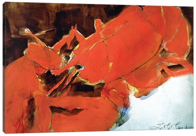 Abstract Lobster II Canvas Art Print