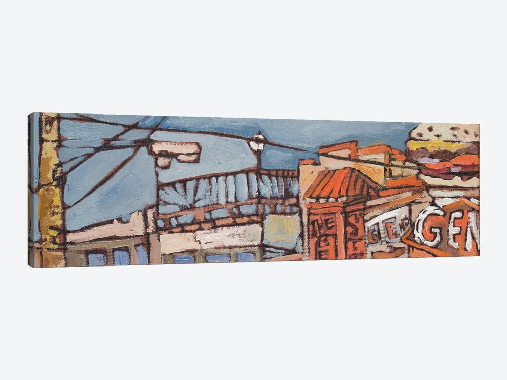 Urban Wires V by Erin McGee Ferrell 1-piece Canvas Print