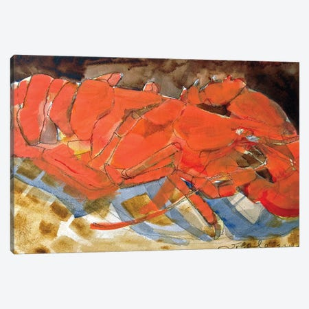 Abstract Lobster III 3-Piece Canvas #EMF3} by Erin McGee Ferrell Canvas Artwork