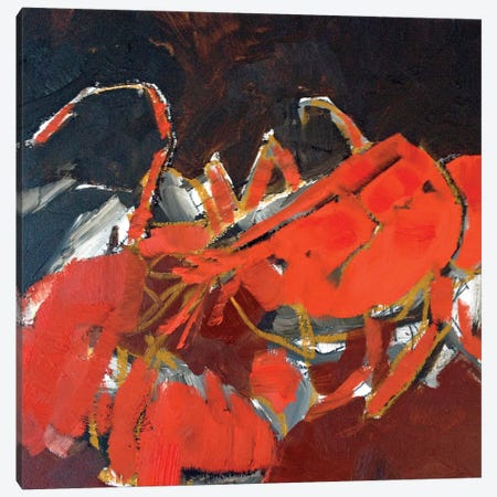 Abstract Lobster IV 3-Piece Canvas #EMF4} by Erin McGee Ferrell Canvas Print