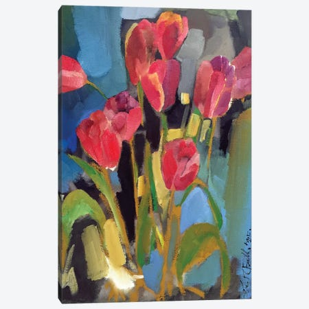 Painterly Tulips II Canvas Print #EMF57} by Erin McGee Ferrell Canvas Art