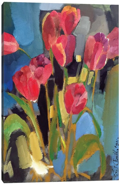 Painterly Tulips II Canvas Art Print