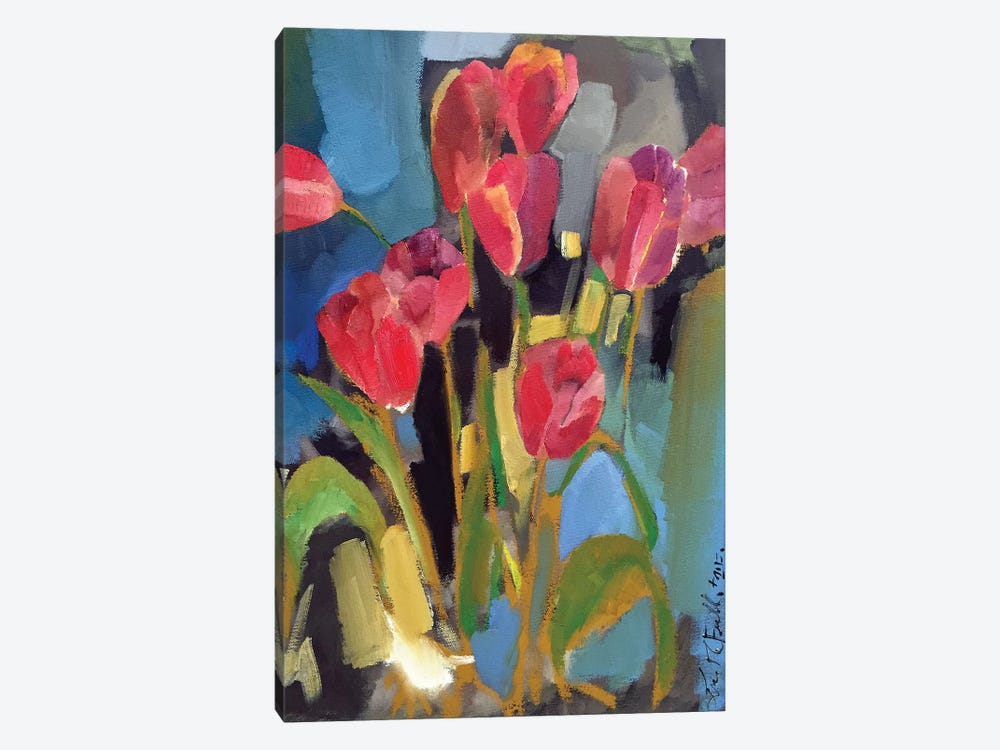 Painterly Tulips II by Erin McGee Ferrell 1-piece Canvas Print