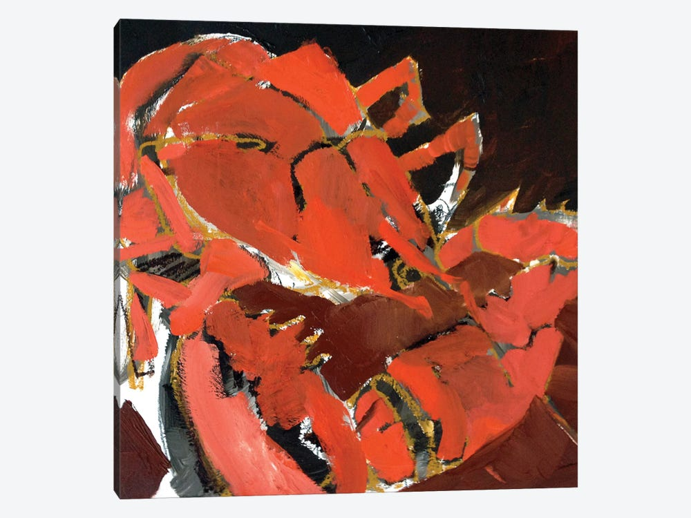 Abstract Lobster V by Erin McGee Ferrell 1-piece Canvas Art Print