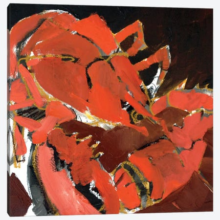 Abstract Lobster V 3-Piece Canvas #EMF5} by Erin McGee Ferrell Canvas Print