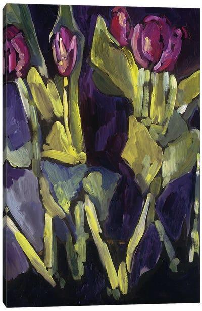 Violet Spring Flowers I Canvas Art Print