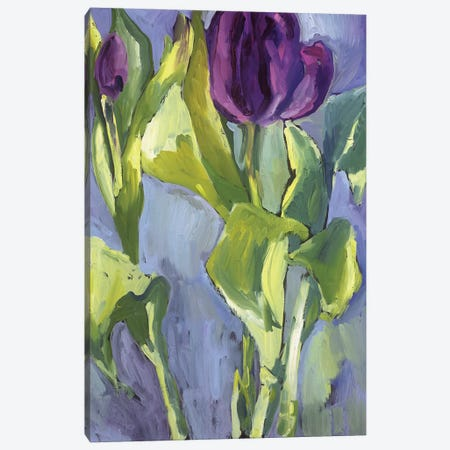 Violet Spring Flowers II Canvas Print #EMF61} by Erin McGee Ferrell Canvas Artwork