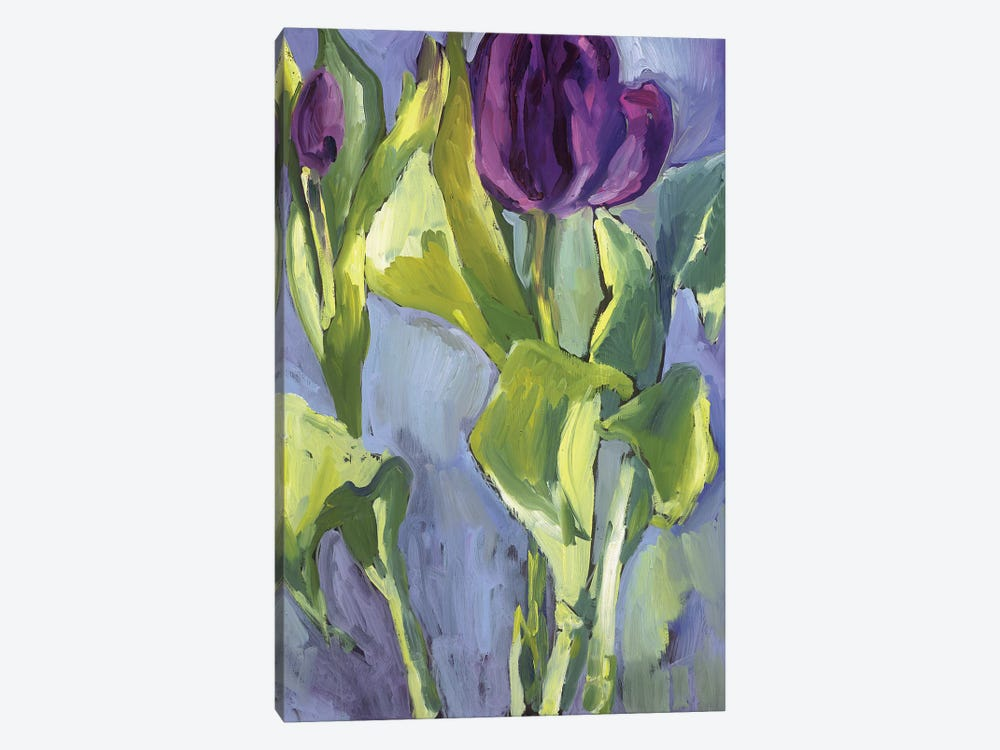 Violet Spring Flowers II by Erin McGee Ferrell 1-piece Canvas Wall Art