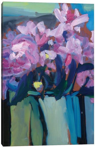 Violet Spring Flowers III Canvas Art Print