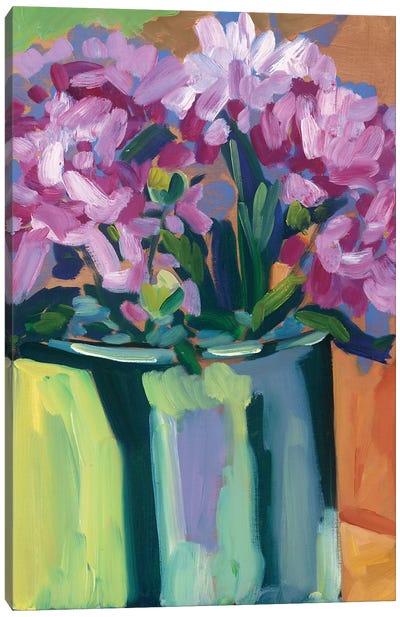 Violet Spring Flowers IV Canvas Art Print