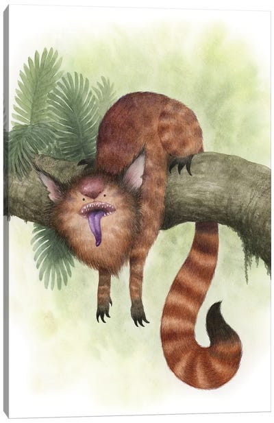 Purple-Tongued Fangle Canvas Art Print