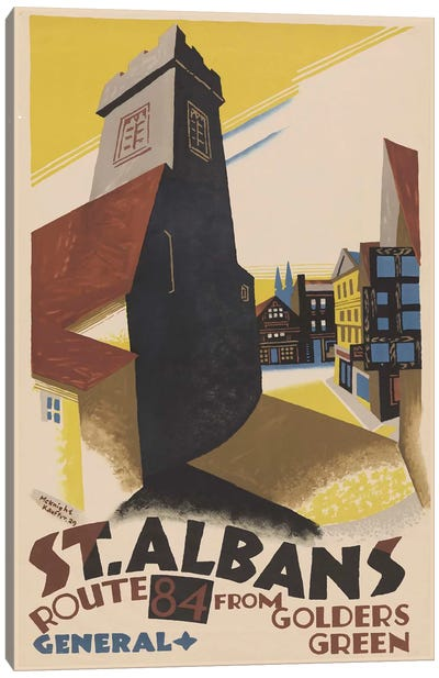 St. Albans Route 84 From Golders Green Canvas Art Print
