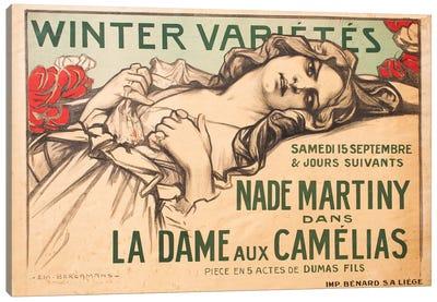 Winter Variétés, La Dame aux Camélias, 1900 Canvas Art Print