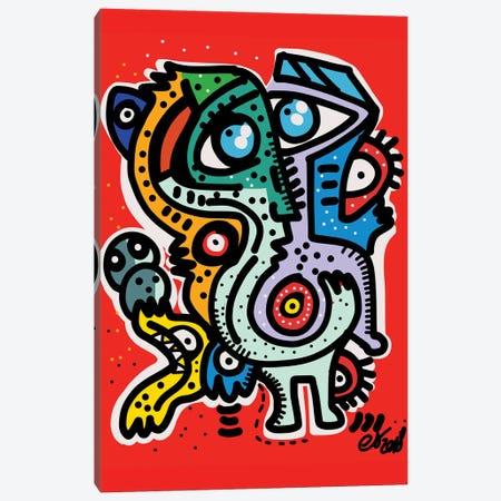 Red Monsters Of December Canvas Print #EMM100} by Emmanuel Signorino Art Print