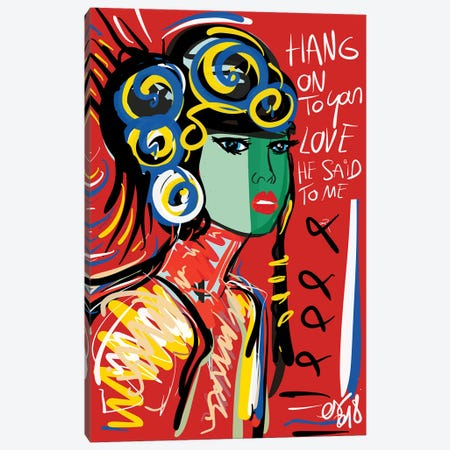 Hang On To Your Love Canvas Print #EMM105} by Emmanuel Signorino Canvas Artwork