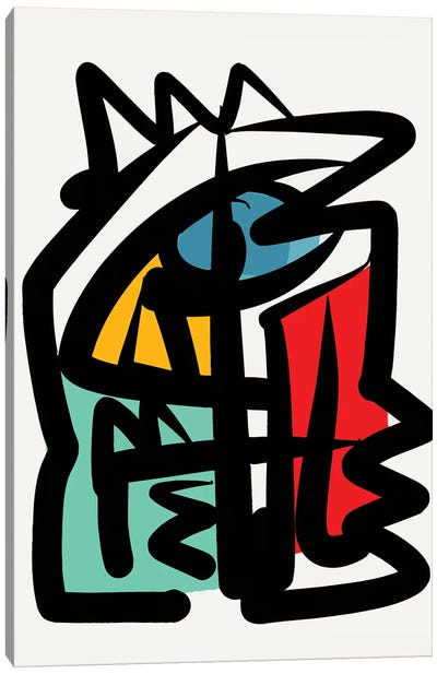 Abstract Lines Portrait Canvas Art Print