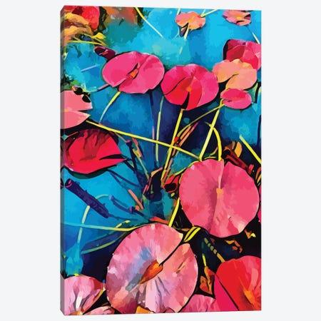 Pop Nenuphars In Bloom Canvas Print #EMM114} by Emmanuel Signorino Canvas Print