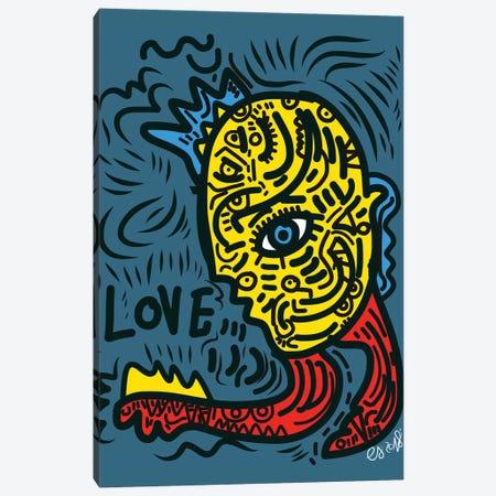 Punk Love Graffiti Canvas Print #EMM119} by Emmanuel Signorino Canvas Wall Art