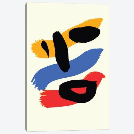 Minimal Yellow Blue Red Portrait Canvas Print #EMM123} by Emmanuel Signorino Canvas Art Print