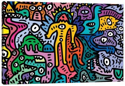 Graffiti Color Cool Monsters Canvas Art Print